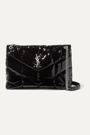 Loulou quilted patent-leather shoulder bag