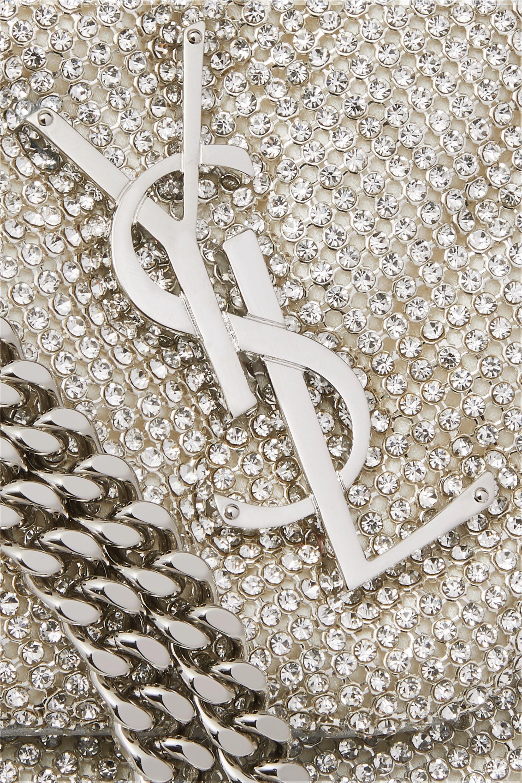 SAINT LAURENT Loulou small crystal-embellished quilted leather shoulder bag