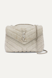 Loulou small crystal-embellished quilted leather shoulder bag