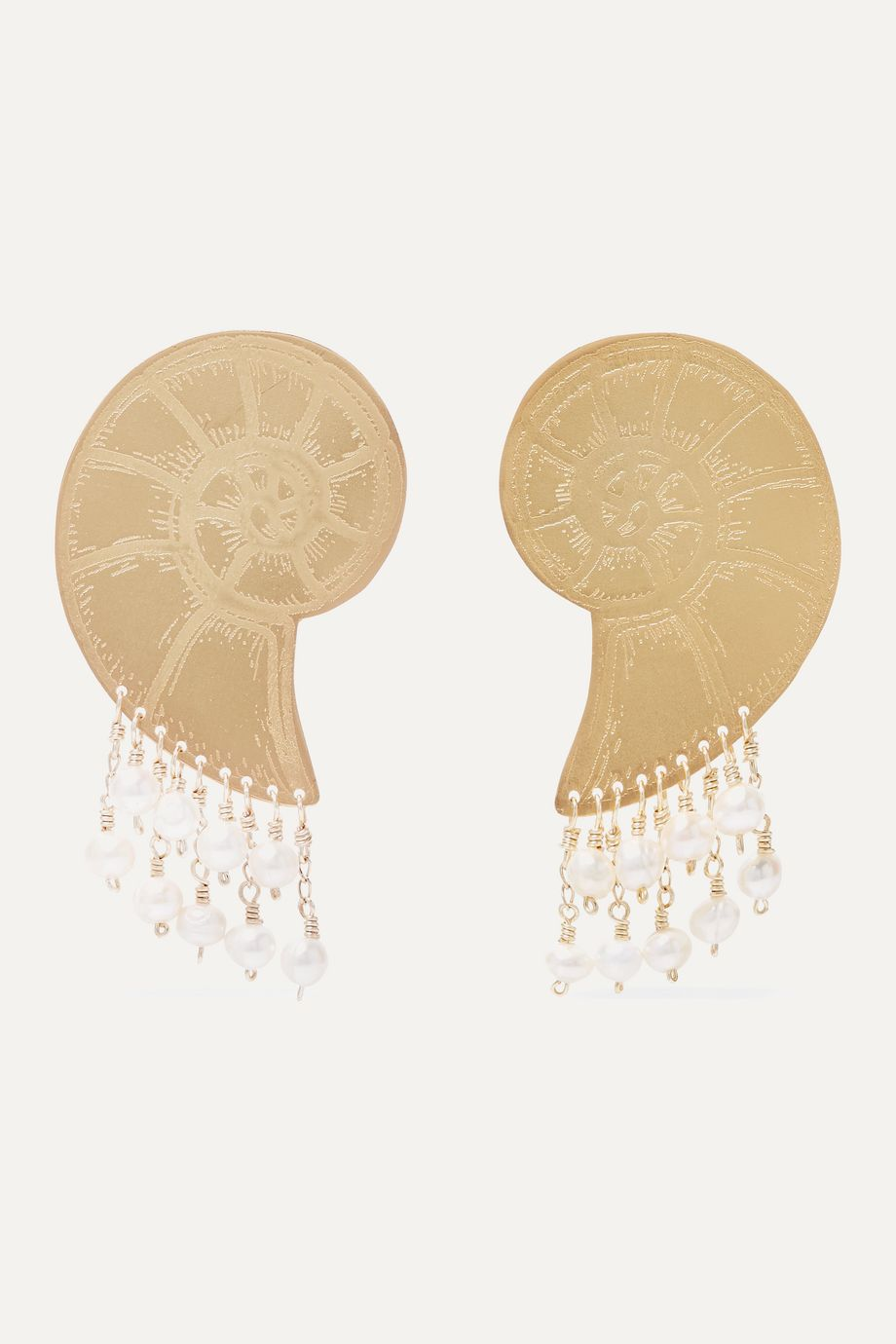 Mercedes Salazar Gold-tone faux pearl earrings