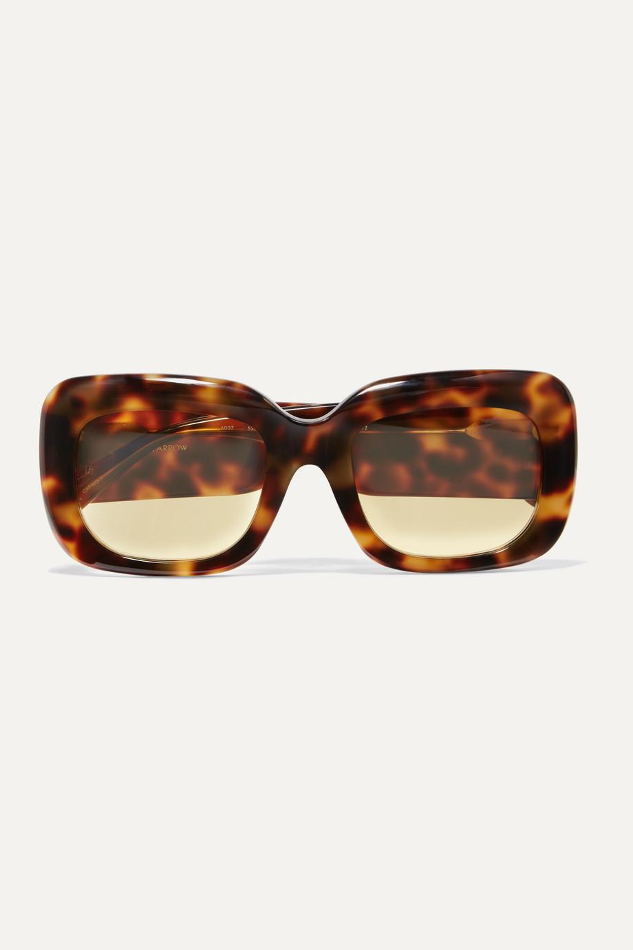 Linda Farrow Square-frame tortoiseshell acetate sunglasses