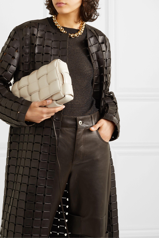 Bottega Veneta Sac porté épaule en cuir intrecciato rembourré Cassette