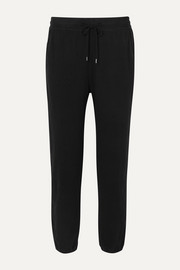 James Perse Cotton-blend jersey track pants