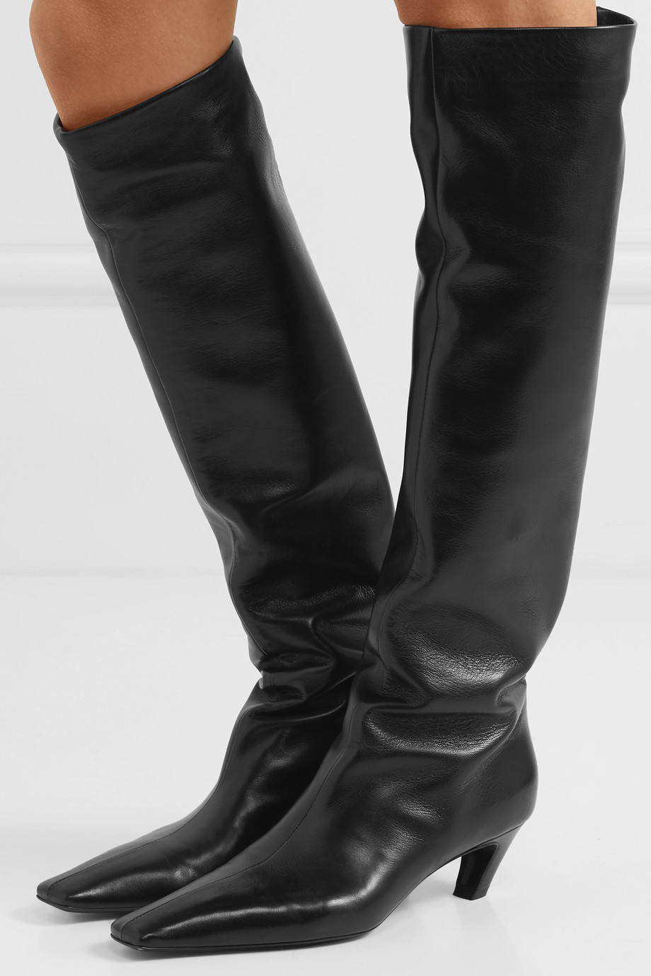 Khaite Leather knee boots