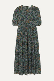 See By Chloé Tiered floral-print georgette midi dress