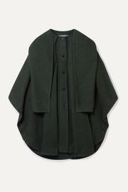 See By Chloé Oversized wool-blend twill cape-effect coat
