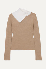 See By Chloé Two-tone ribbed wool sweater
