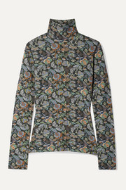 See By Chloé Floral-print stretch-jersey turtleneck top
