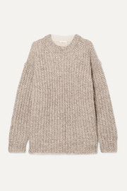 See By Chloé Oversized ribbed two-tone knitted sweater