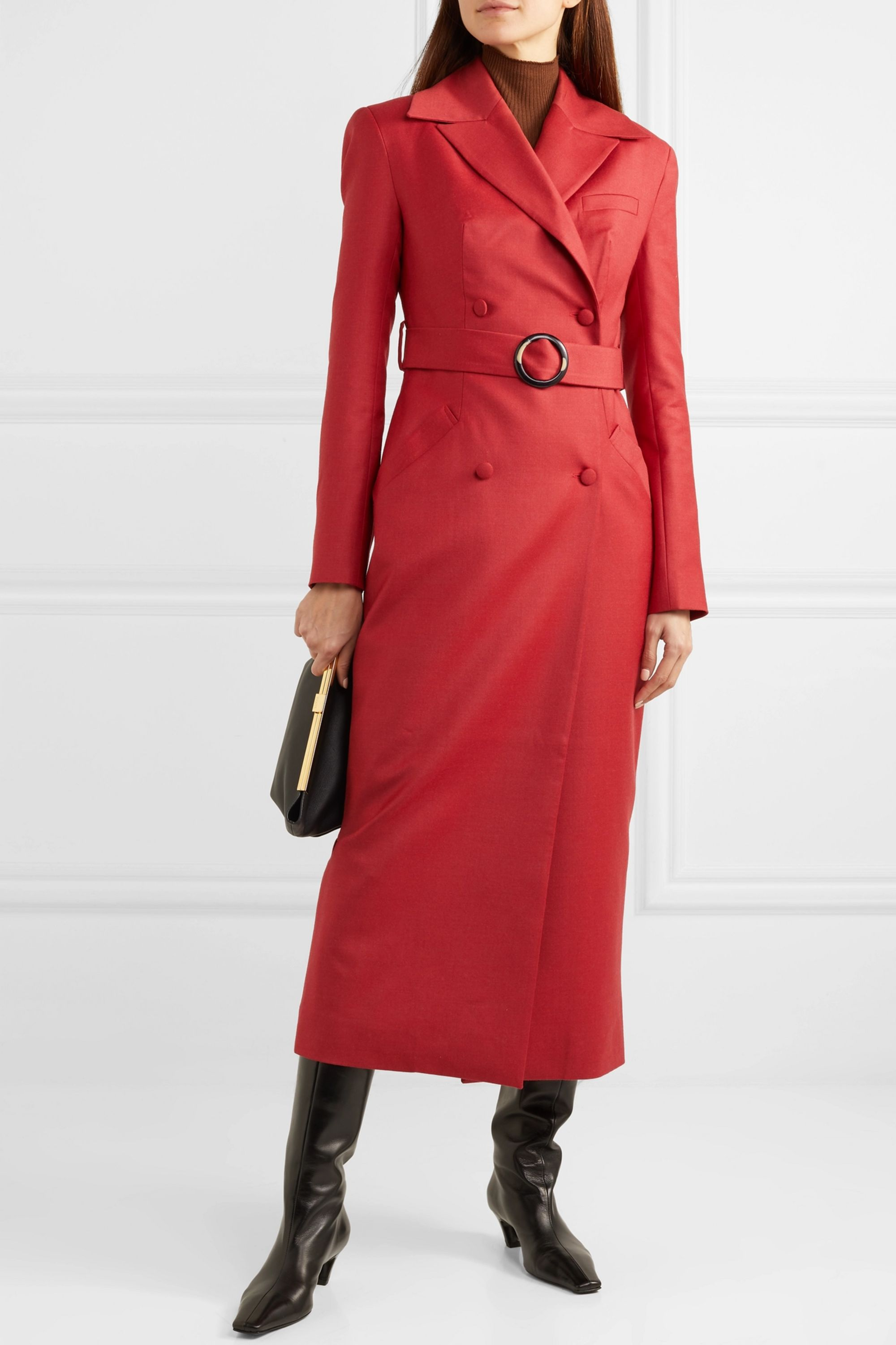 MATERIEL Belted double-breasted wool-blend coat