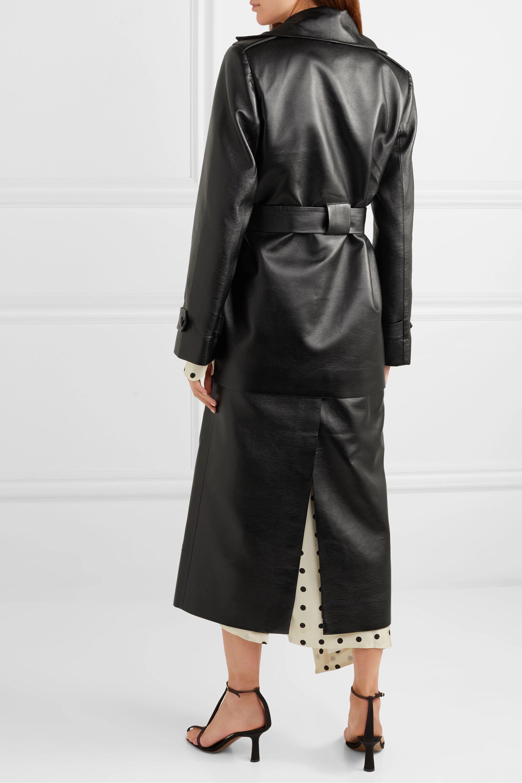 MATERIEL 配腰带分层式人造皮革风衣