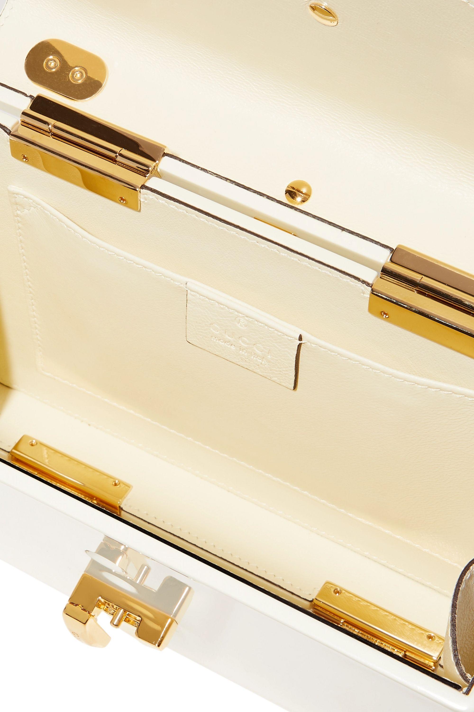 Gucci Sylvie 1969 mini Tote aus Plexiglas® mit Kette