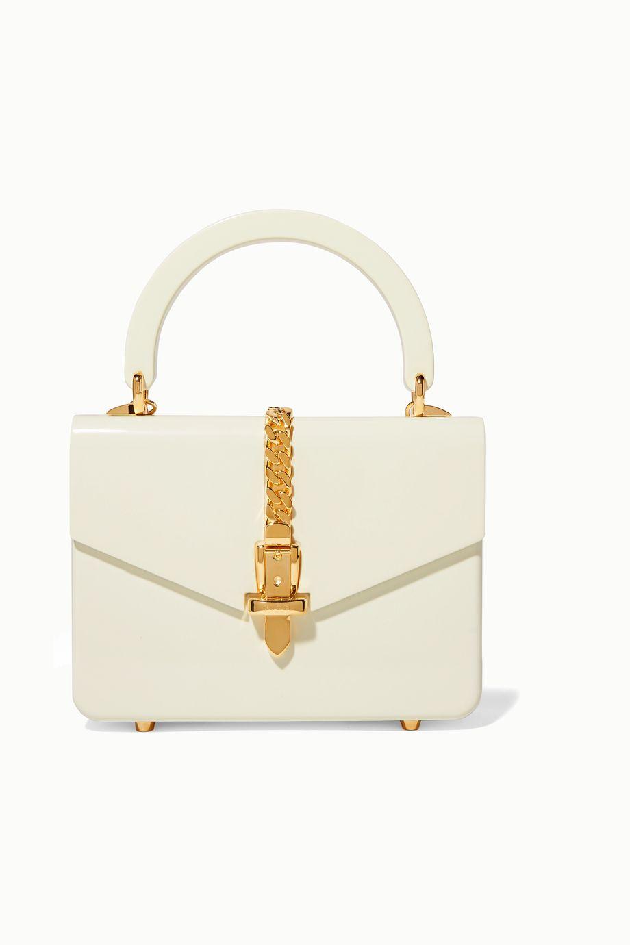 Gucci Sylvie 1969 链条缀饰宝克力板材迷你手提包
