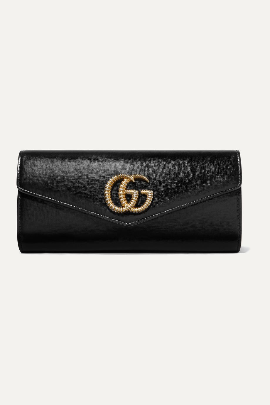 Gucci Broadway textured-leather clutch