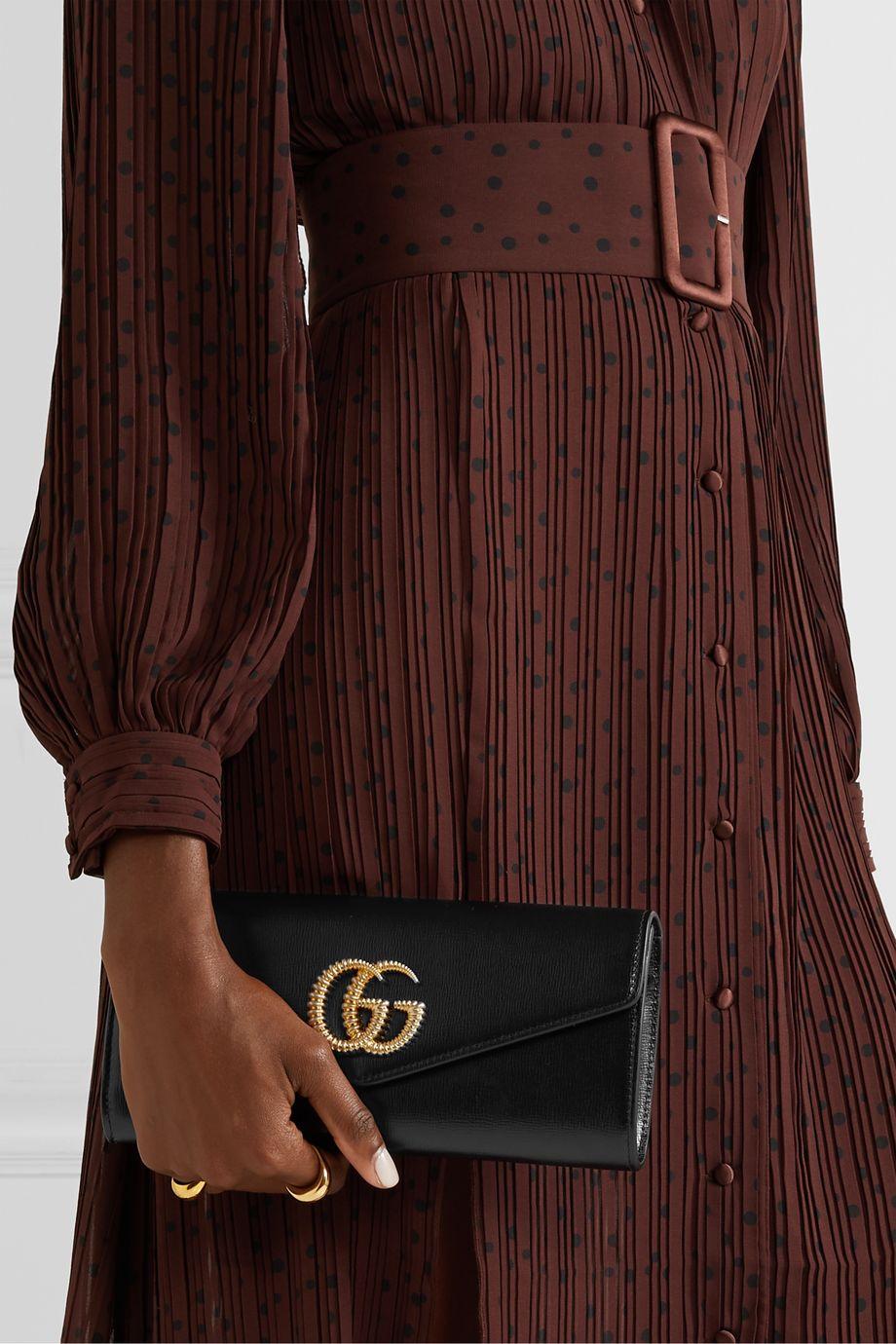 Gucci Broadway Clutch aus strukturiertem Leder
