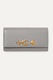 Zumi embellished textured-leather wallet