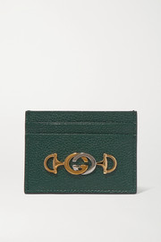 Zumi embellished textured-leather cardholder