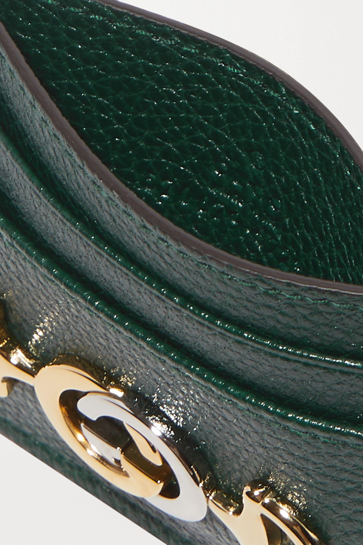Gucci Zumi 带缀饰纹理皮革卡夹