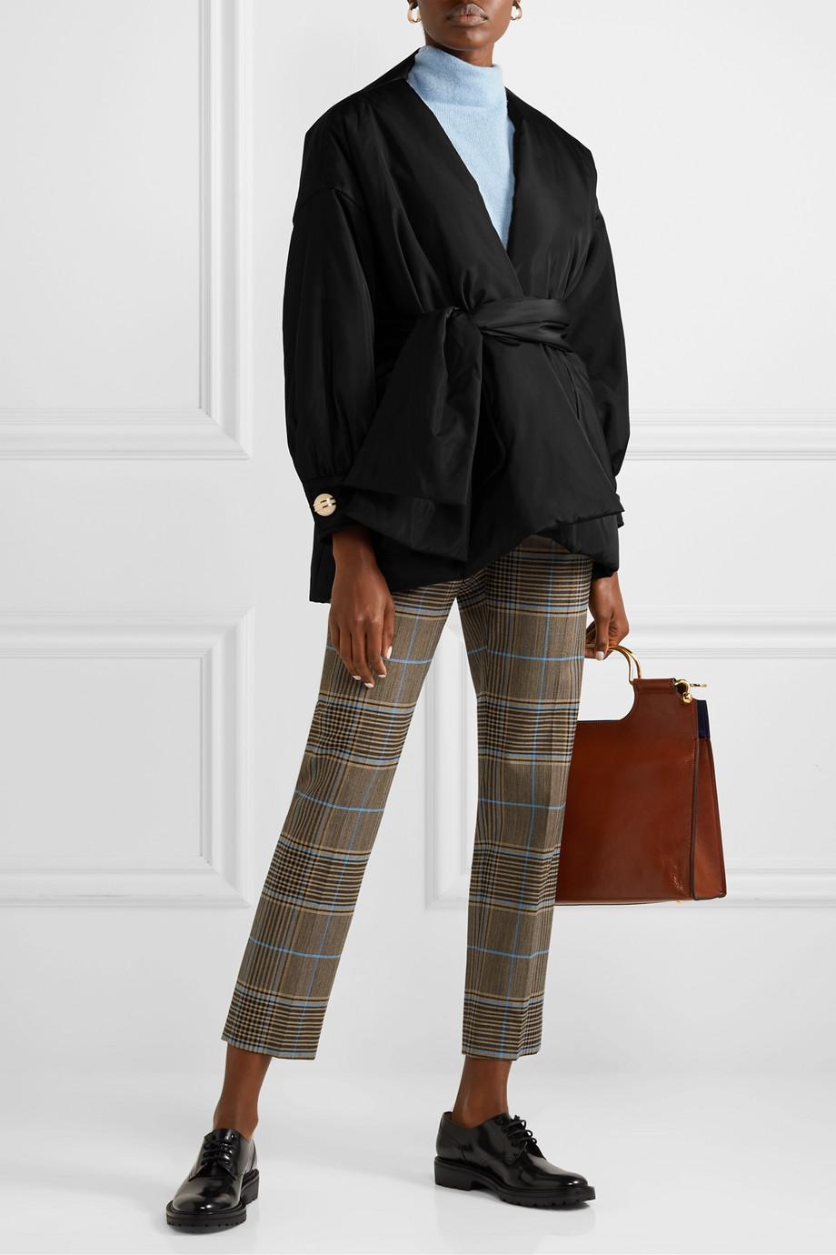 Gucci Button-embellished padded silk-taffeta jacket