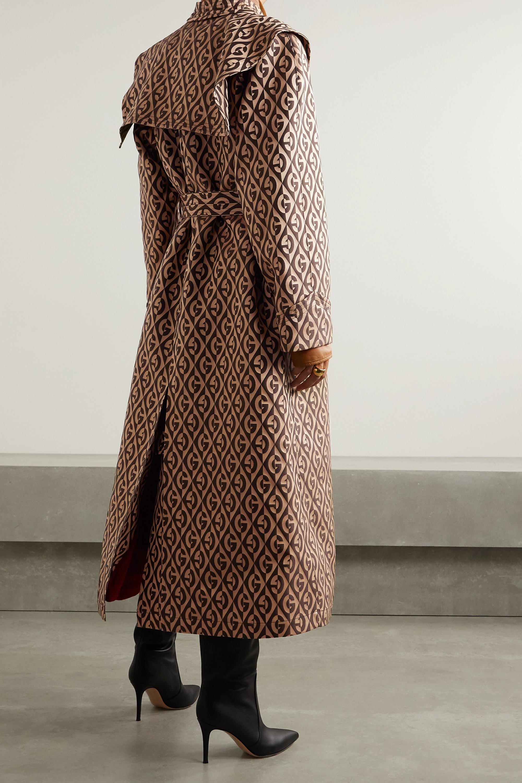 Gucci Printed gabardine trench coat