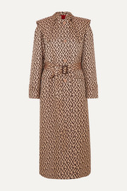 Gucci Printed gabardine trench coat