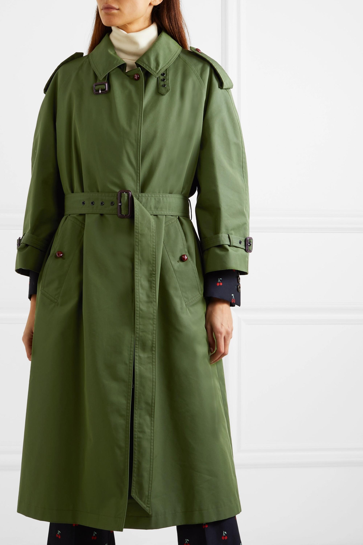Gucci Oversized cotton-blend gabardine trench coat