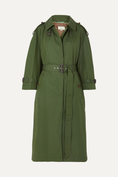 oversized-cotton-blend-gabardine-trench-coat by gucci