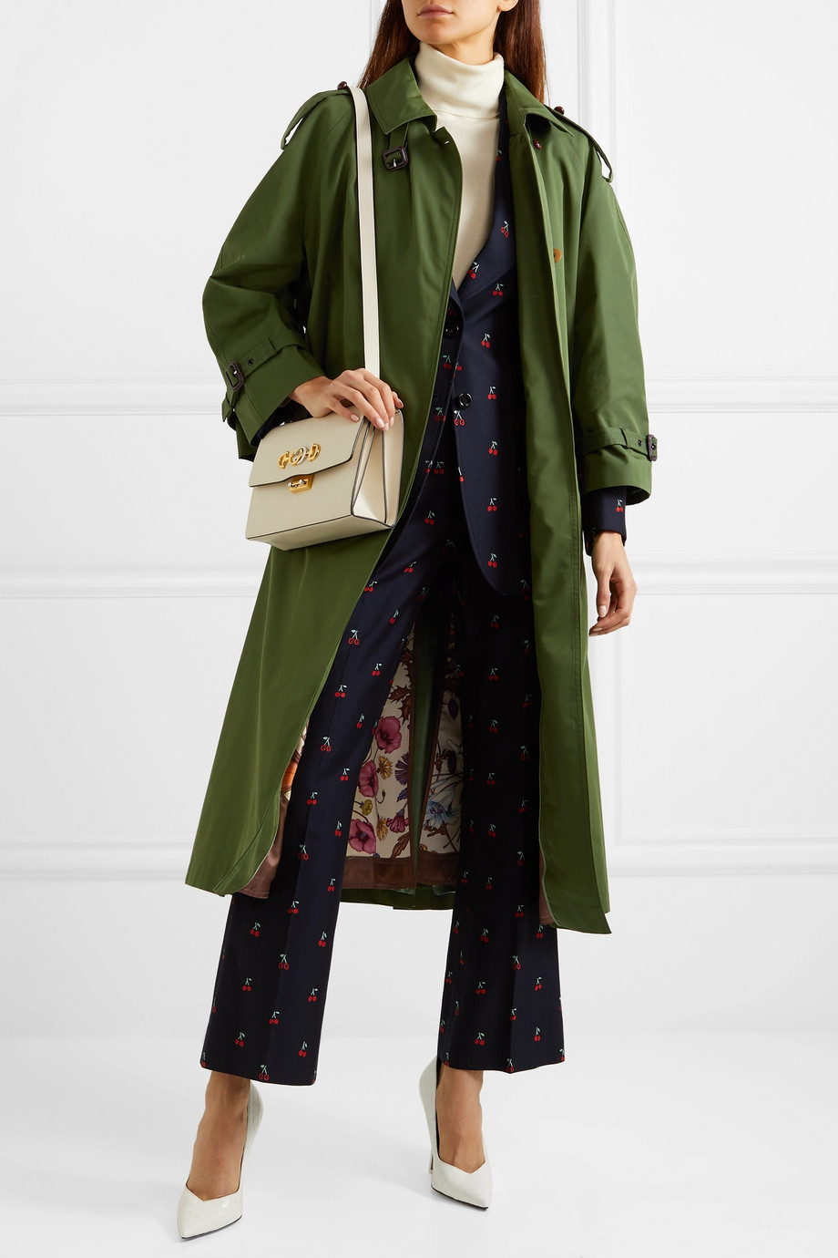 Gucci Oversized cotton-blend gabardine trench coat
