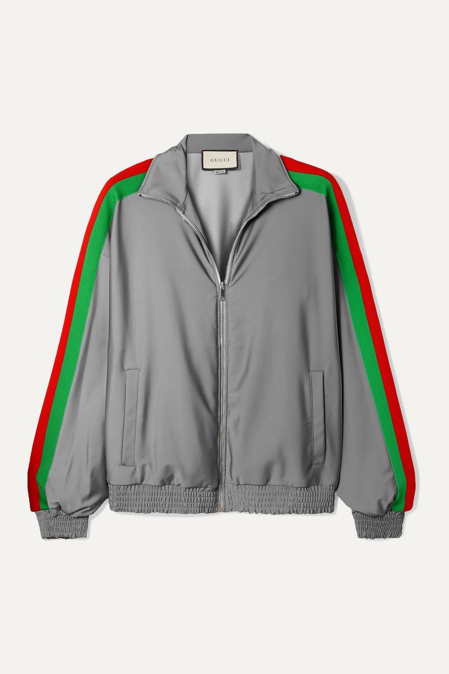 Gucci Reflective stretch-jersey track jacket