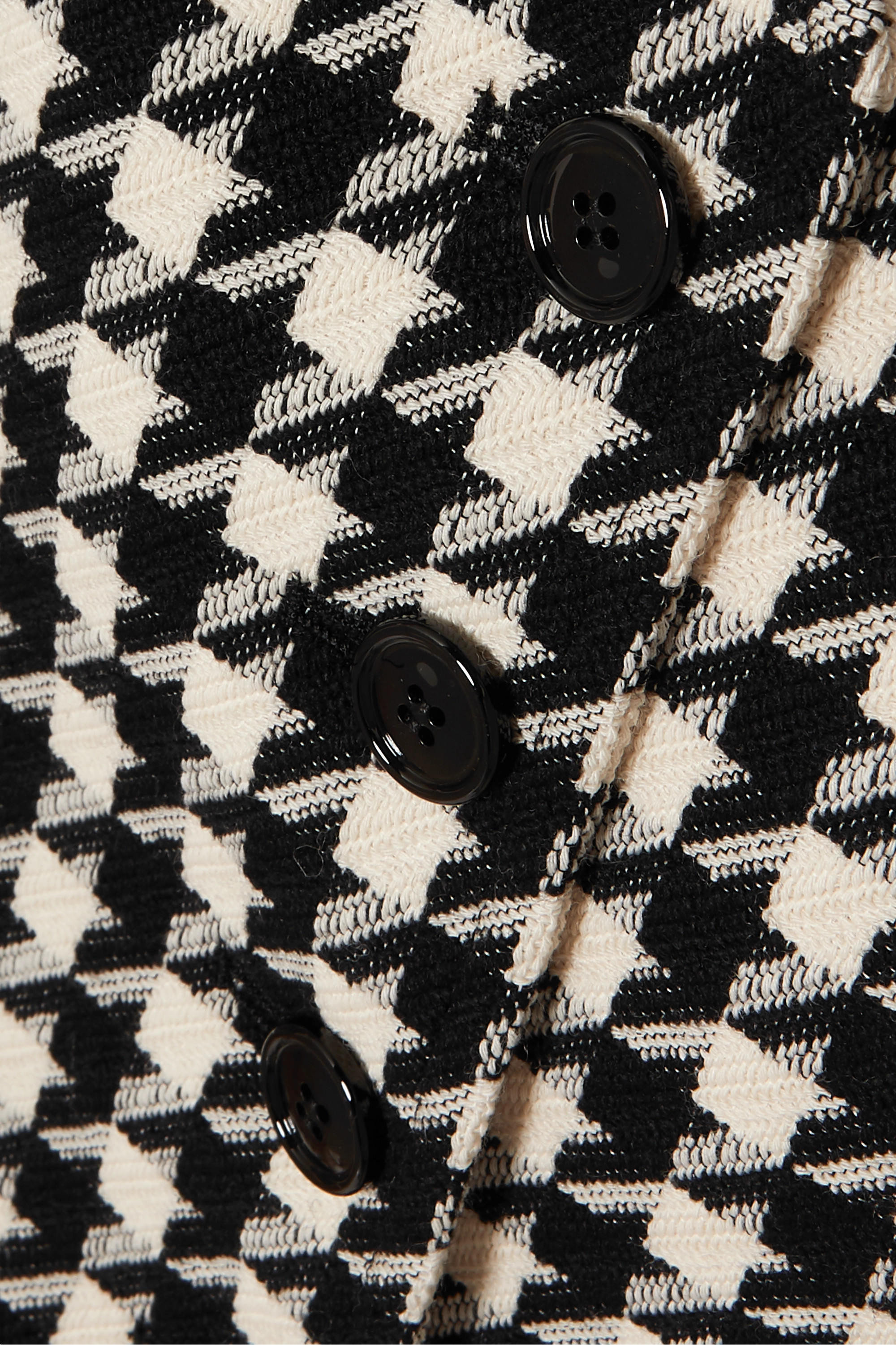 Gucci Houndstooth wool and cotton-blend vest