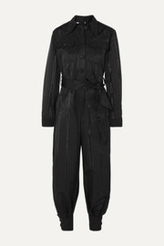 Gucci Belted moire jumpsuit