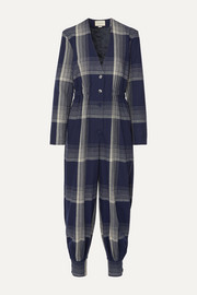 Gucci Checked wool-blend jumpsuit