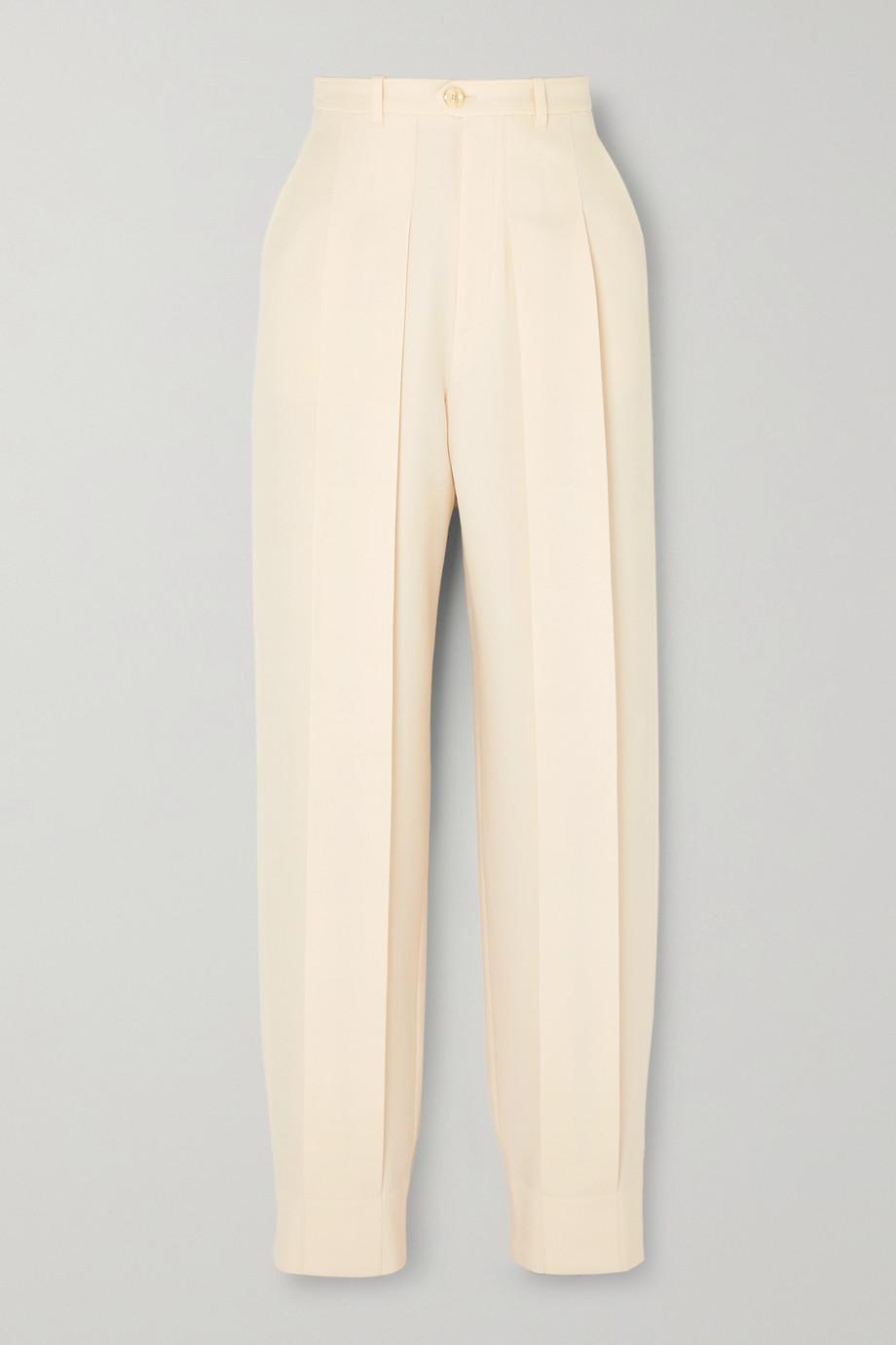 Gucci Pantalon fuselé en laine à plis plats