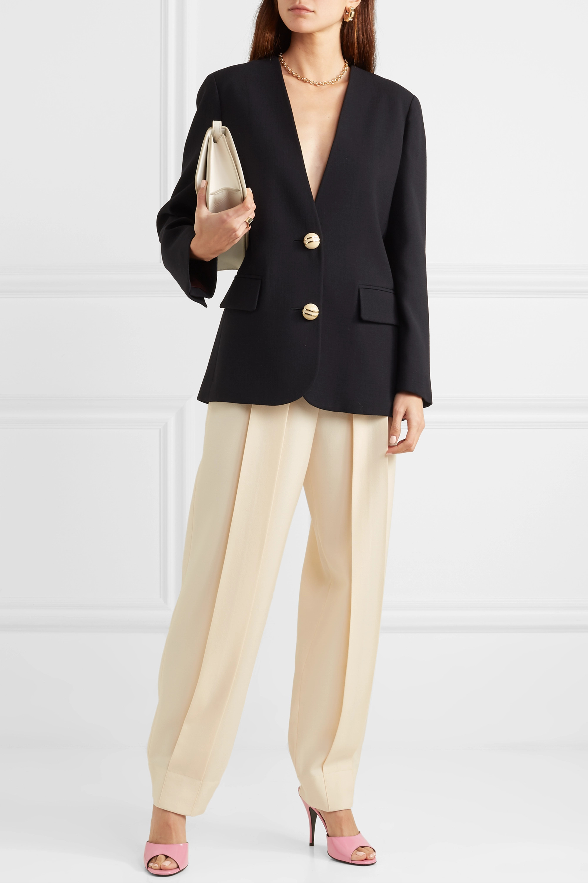 Gucci Pleated wool tapered pants