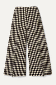 Gucci Houndstooth wool and cotton-blend culottes