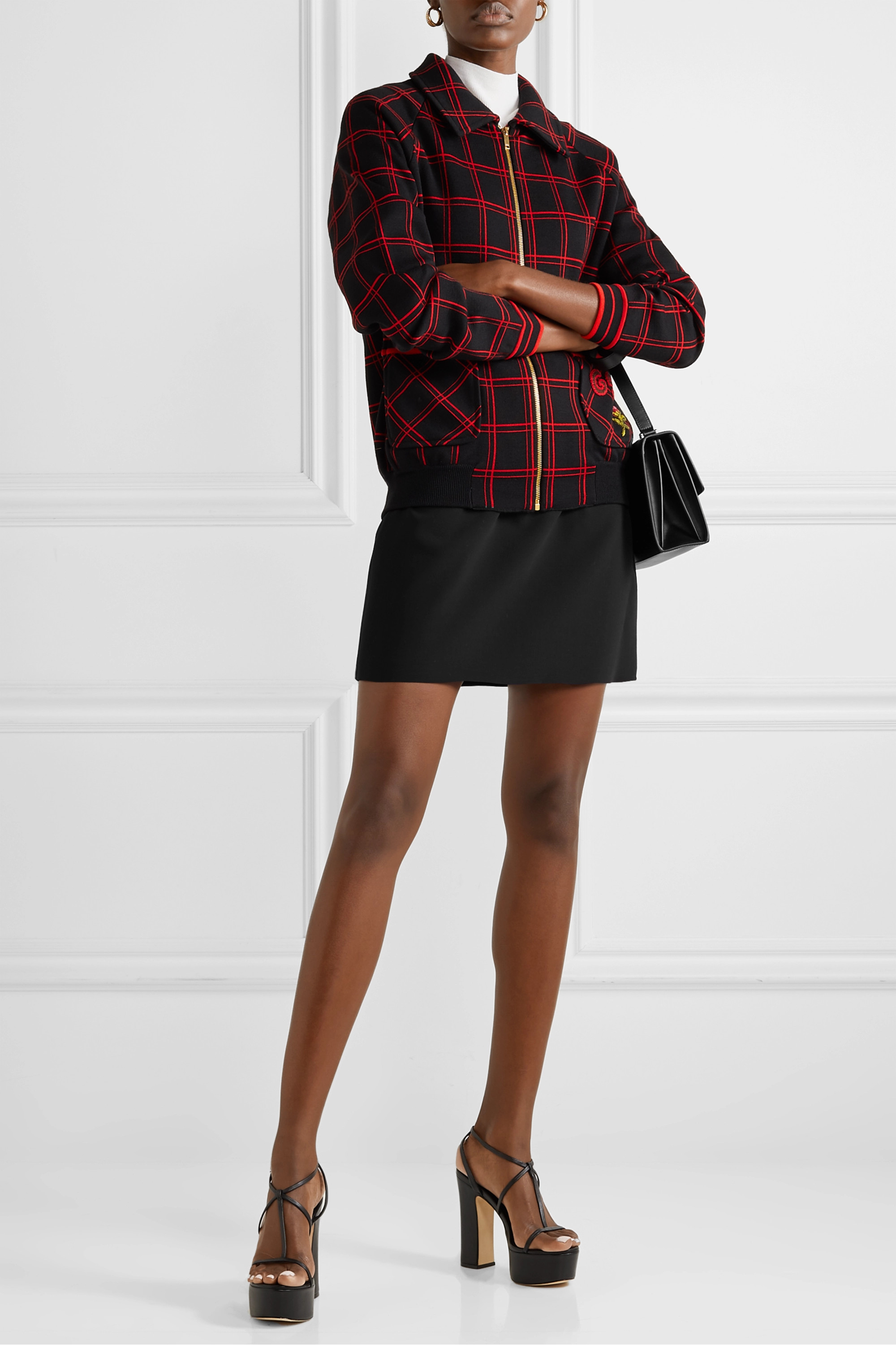 Gucci Silk and wool-blend cady mini skirt