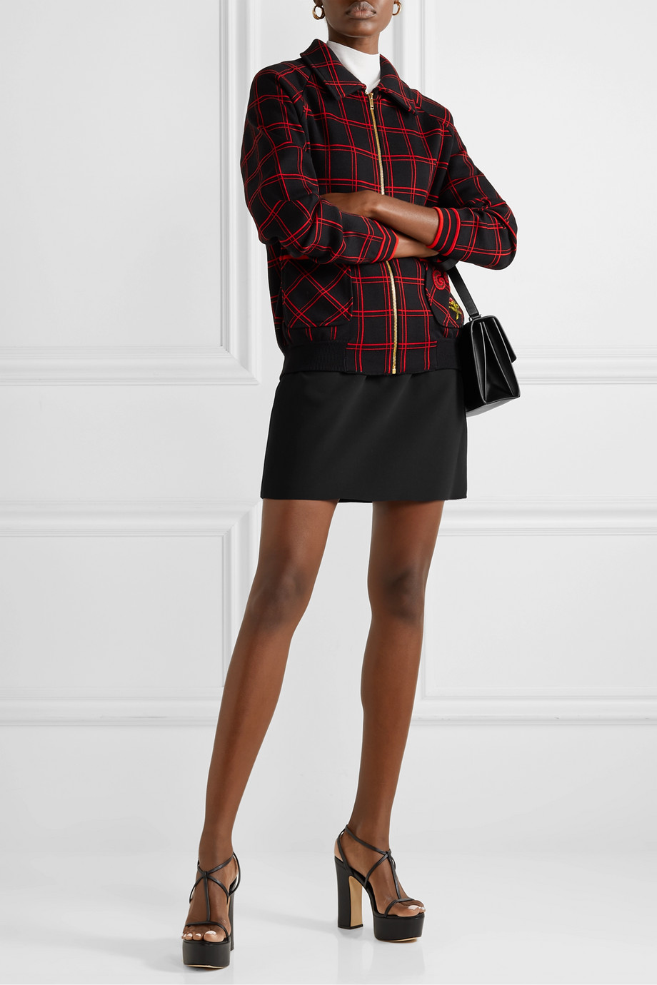Gucci Silk and wool-blend cady mini skirt