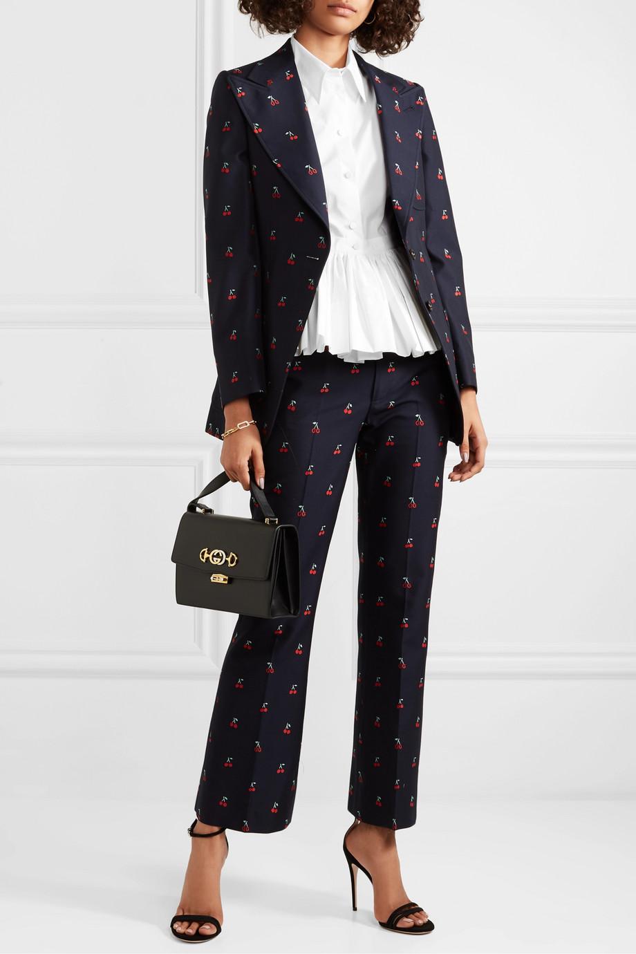 Gucci Cotton-poplin peplum shirt