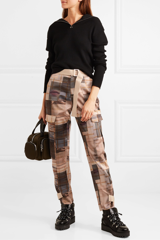 Holzweiler Skunk printed satin straight-leg pants