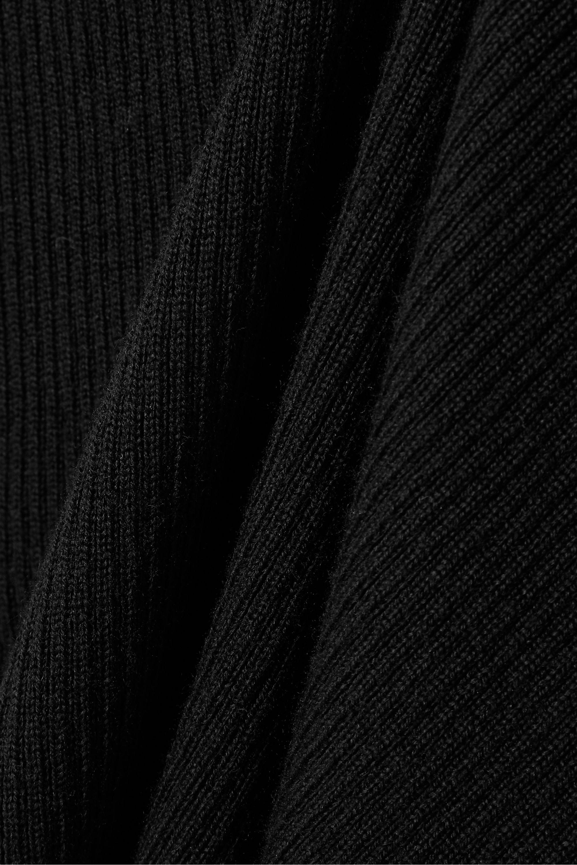 Holzweiler Kull ribbed merino wool hoodie
