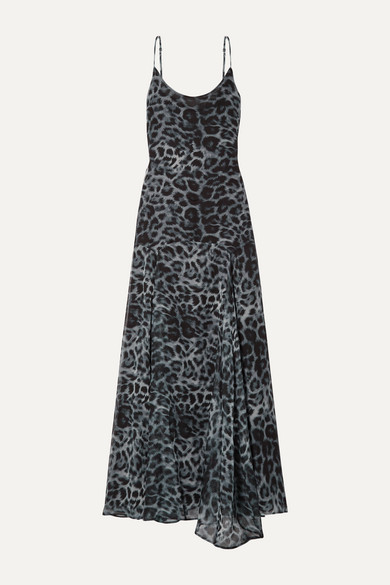 Tracy Leopard Print Chiffon Maxi Dress by Eywasouls Malibu