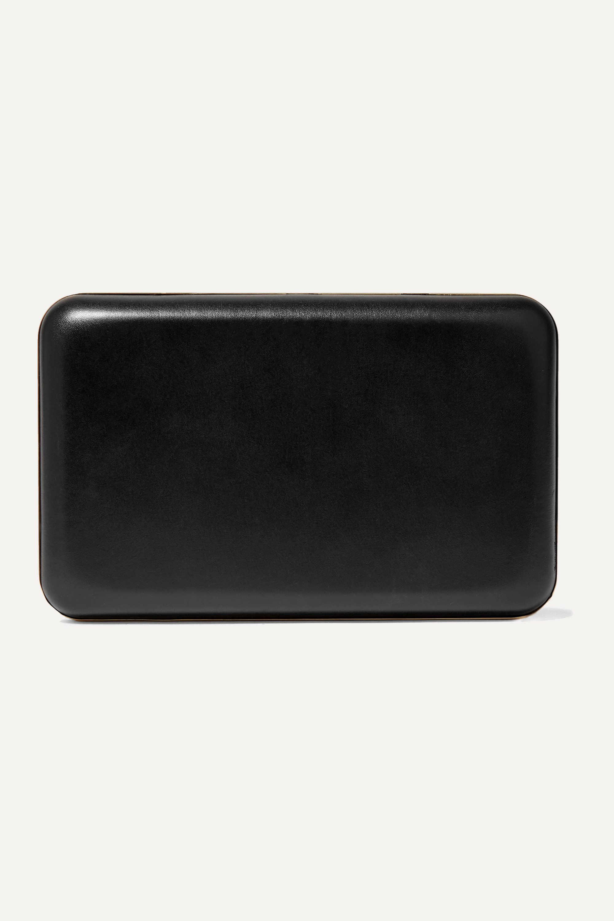 The Row Moulded leather clutch