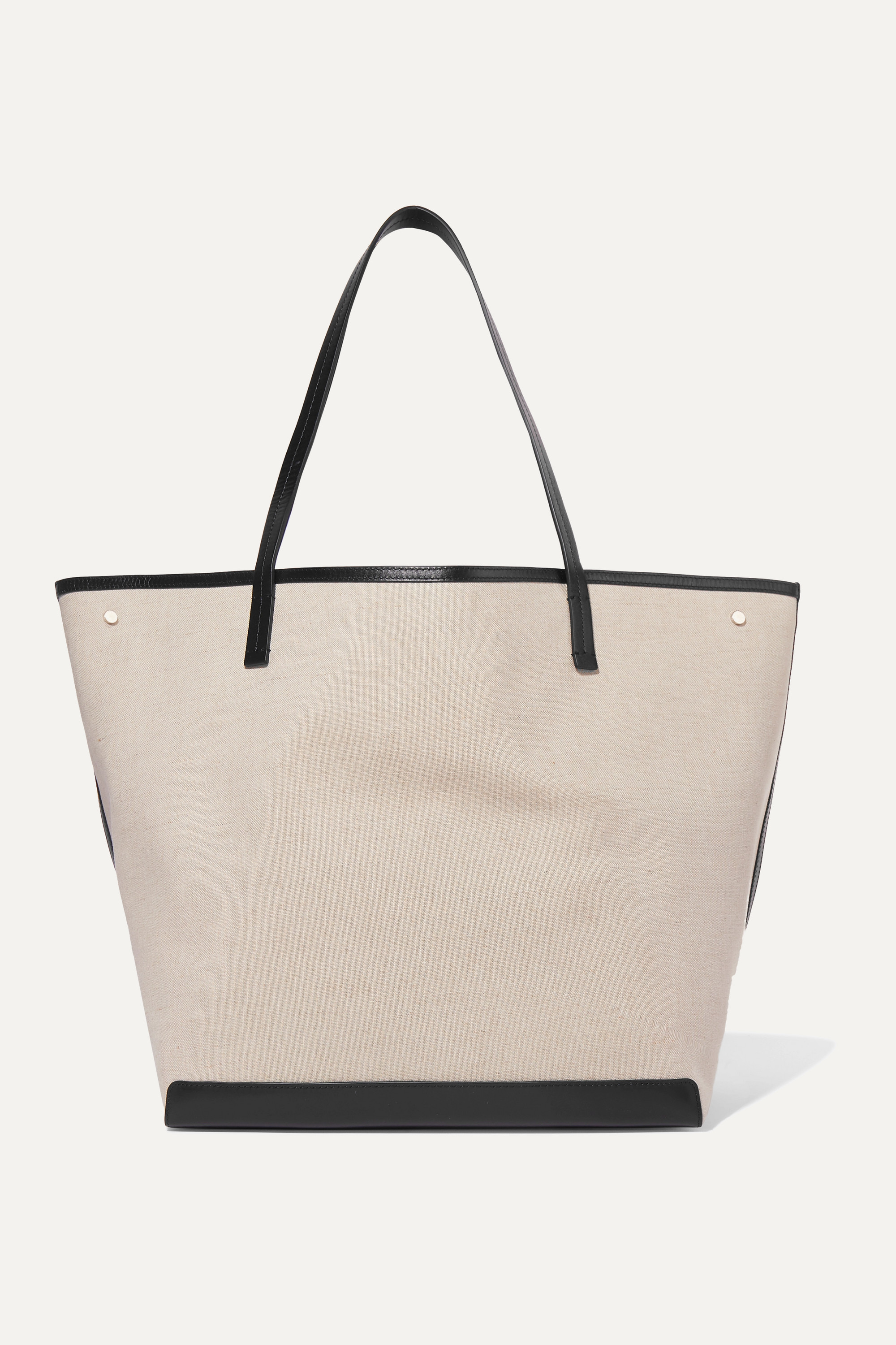Park Xl Leather Trimmed Canvas Tote