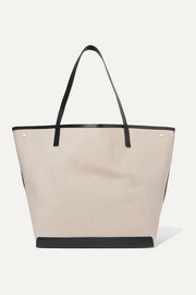Park XL leather-trimmed canvas tote