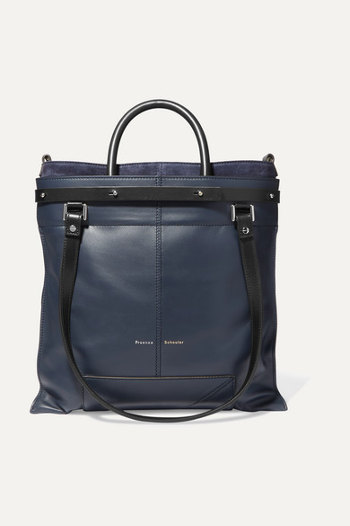 Proenza Schouler Totes PS19 small two-tone leather and suede tote
