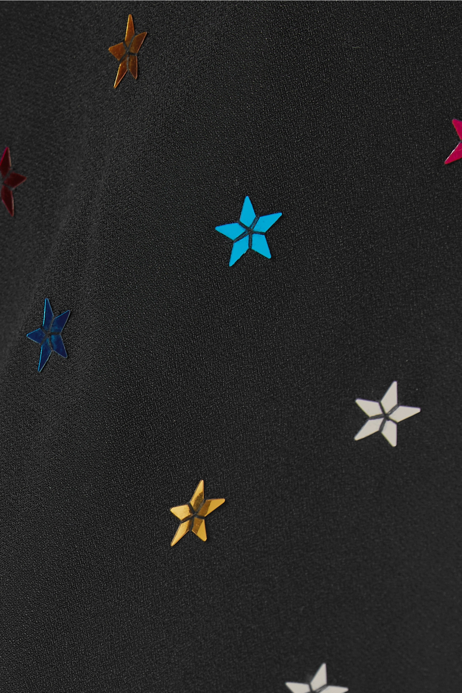 The Attico Sequin-embellished crepe de chine maxi dress