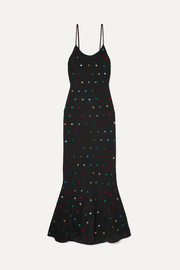The Attico Sequin-embellished crepe de chine maxi dress
