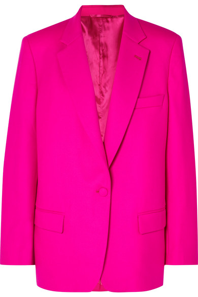 ATTICO | Attico - Oversized Wool-Blend Gabardine Blazer - Pink | Goxip