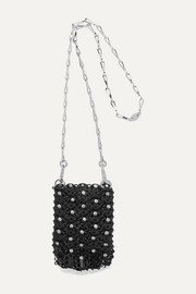 Mini 1969 crystal-embellished chainmail shoulder bag
