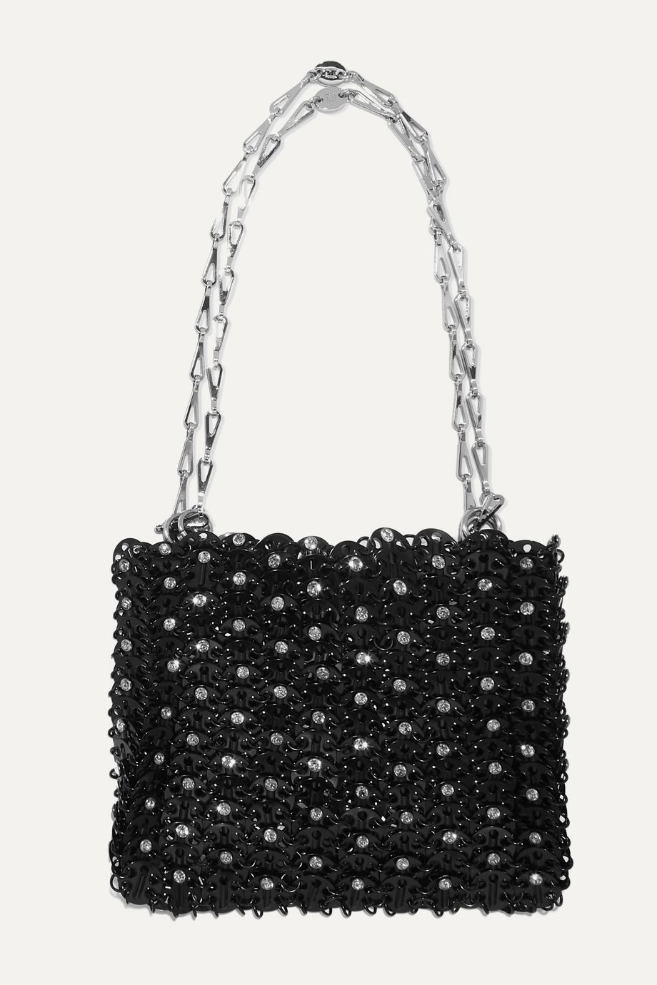 Paco Rabanne 1969 crystal-embellished chainmail shoulder bag
